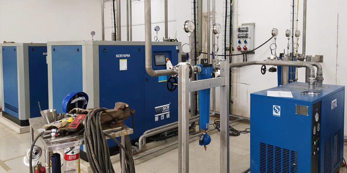 宁波某乐器公司使用斯可络空压机进行气共享节能改造
