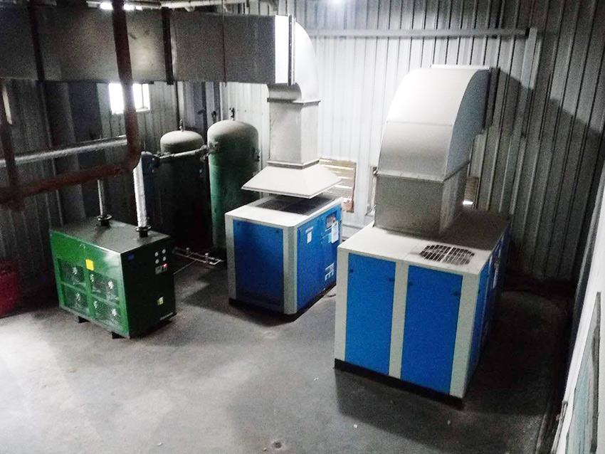 上海某自动化精密仪表公司使用斯可络空压机进行气共享节能改造