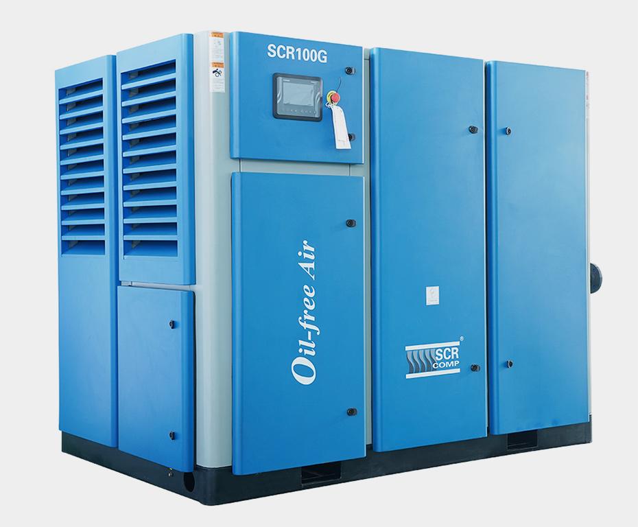 干式无油双螺杆空气压缩机SCR100G