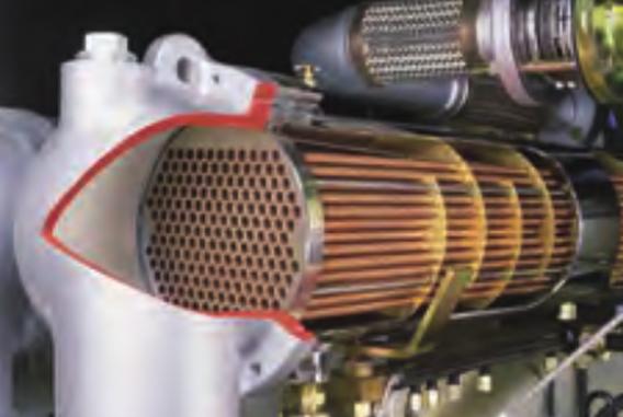 干式无油双螺杆空气压缩机SCR100G-星状翅片水冷却器(水冷机型)