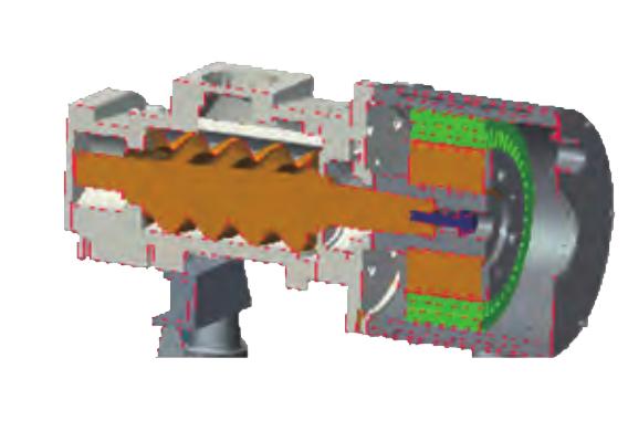 永磁变频双螺杆空压机-特别的双层油冷电机